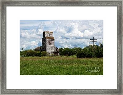 Saskatchewan Waldron Elevator Framed Print by Bob Christopher