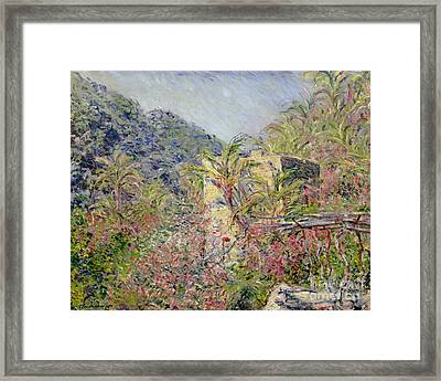 Sasso Valley Framed Print by Claude Monet