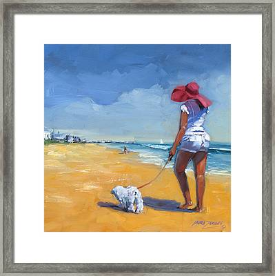 Sassy Three Framed Print by Laura Lee Zanghetti