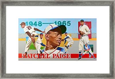 Satchel Paige Framed Print by Cliff Spohn