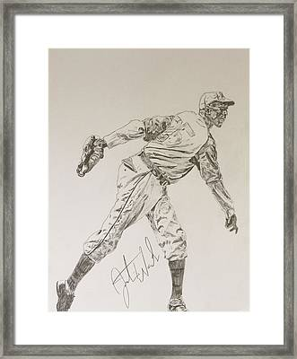 Satchel Paige Framed Print by Justin Wade