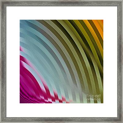 Satin Movements Blue And Green Framed Print by Mindy Sommers