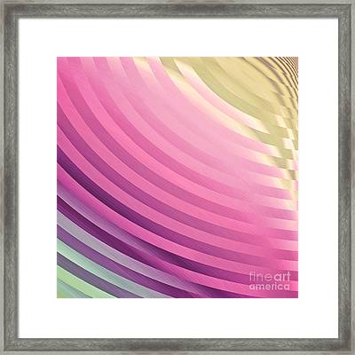 Satin Movements Pink Framed Print by Mindy Sommers