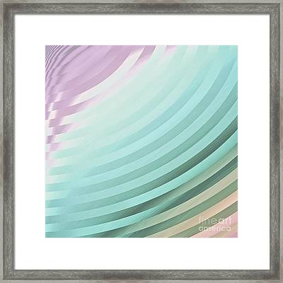 Satin Movements Sky Blue Framed Print by Mindy Sommers