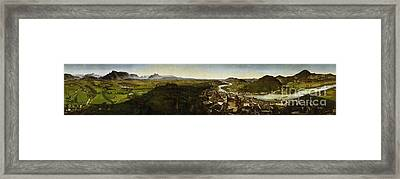 Sattler At The Panorama Of The Fortress Framed Print by Johann Michael