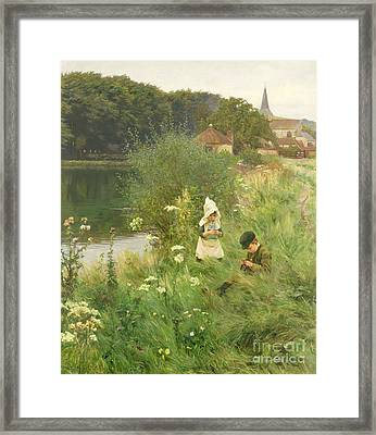 Saturday Afternoon Framed Print by Gunning King