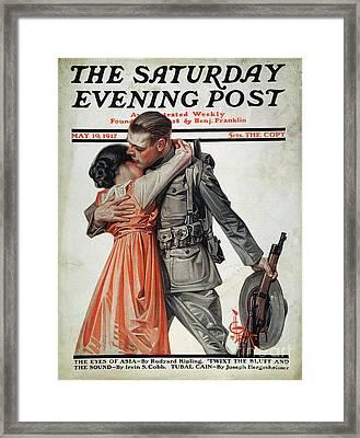 Saturday Evening Post Framed Print by Granger