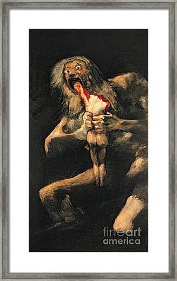 Saturn Devouring One Of His Children  Framed Print by Goya