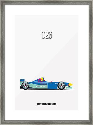 Sauber Petronas C20 F1 Poster Framed Print by Beautify My Walls