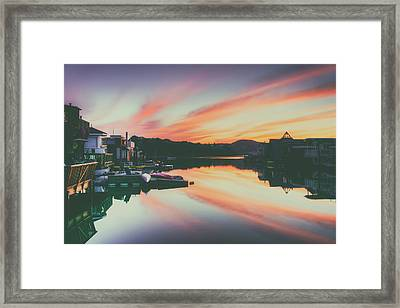 Sausalito At Sunset Framed Print by Mountain Dreams