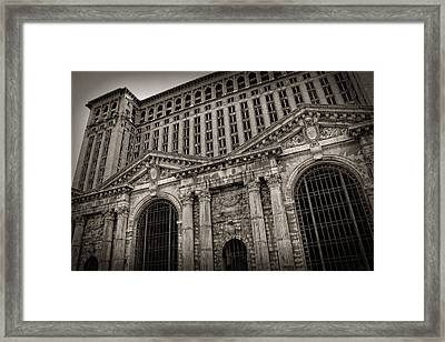 Save The Depot - Michigan Central Station Corktown - Detroit Michigan Framed Print by Gordon Dean II