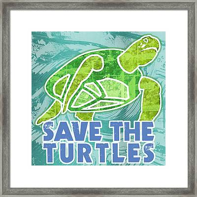 Save The Turtles Framed Print by Mary Ogle