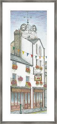 Savings Bank Clock Ulverston Cumbria Framed Print by Sandra Moore