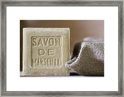 Savon De Marseille Framed Print by Frank Tschakert