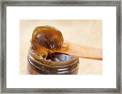 Savon Noir Black Soap Jelly Framed Print by Arletta Cwalina