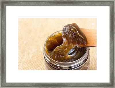 Savon Noir Black Soap Portion Framed Print by Arletta Cwalina