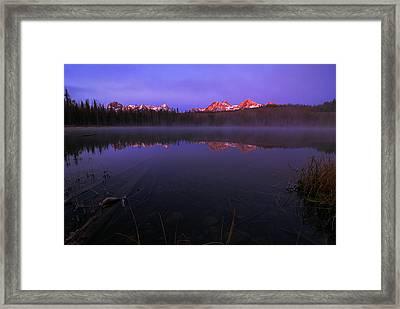 Sawtooth Alpen Glow In Stanley Idaho Framed Print by Vishwanath Bhat