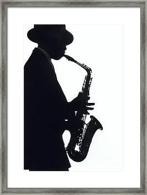 Sax 2 Framed Print by Tony Cordoza