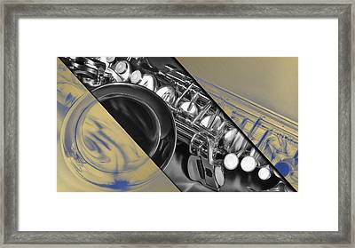 Saxophone Musical Collection Framed Print by Marvin Blaine