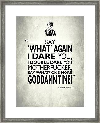 Say What Again Framed Print by Mark Rogan