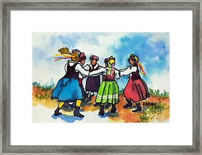 Scandinavian Dancers Framed Print by Kathy Braud