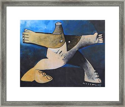 Scansio A Journey Along Time Framed Print by Mark M Mellon