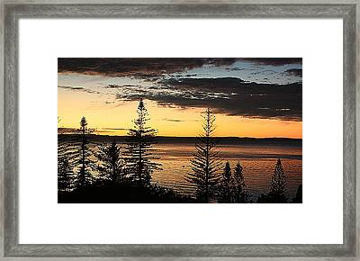 Scarborough Dawn Framed Print by Trudee Hunter