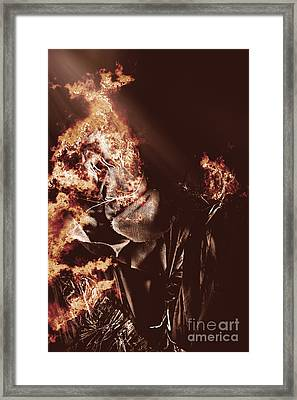 Scarecrow Of Shrovetide Framed Print by Jorgo Photography - Wall Art Gallery