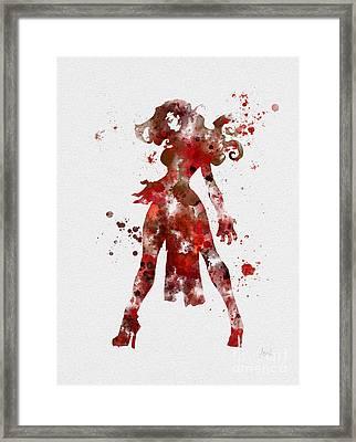 Scarlet Witch Framed Print by Rebecca Jenkins
