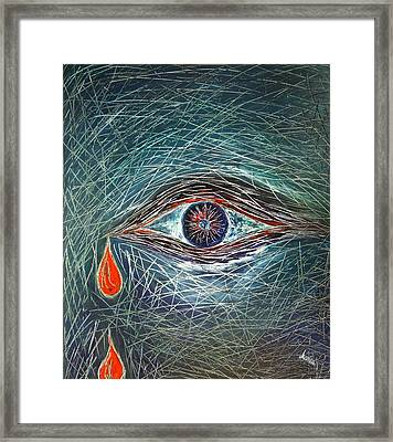 Scars In My Soul Framed Print by Marianna Mills