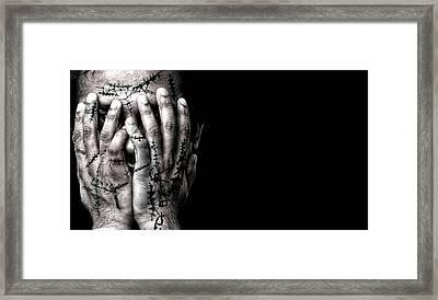 Scars Framed Print by Venura Herath