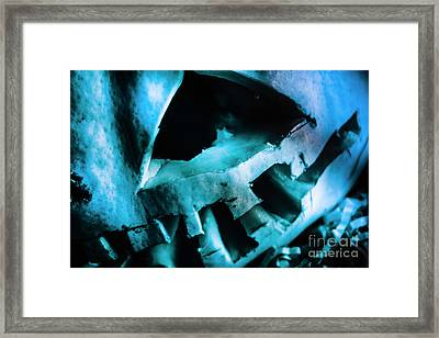 Scary Jack-o-lantern Pumpkin Detail Framed Print by Jorgo Photography - Wall Art Gallery