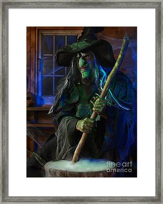 Scary Old Witch Framed Print by Oleksiy Maksymenko