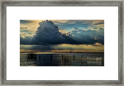 Scattered Showers Framed Print by Sherry Owens