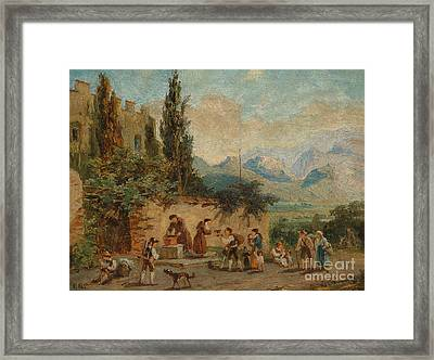 Scene From South Tyrol Botticelli Framed Print by Franz Xaver