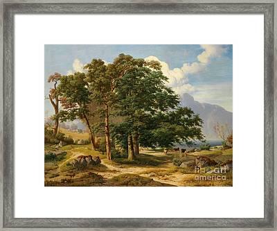 Scene From The Salzkammergut Framed Print by Celestial Images