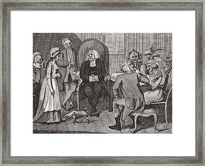 Scene In An English Divorce Court Framed Print by Vintage Design Pics