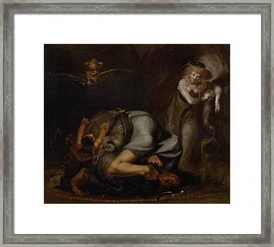 Scene Of Witches Framed Print by Henry Fuseli