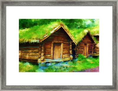 Scenes From Norway Framed Print by Michael Greenaway