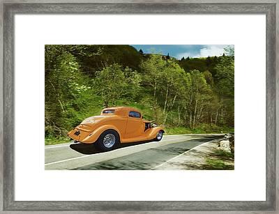 Scenic Drive Framed Print by Steven Agius