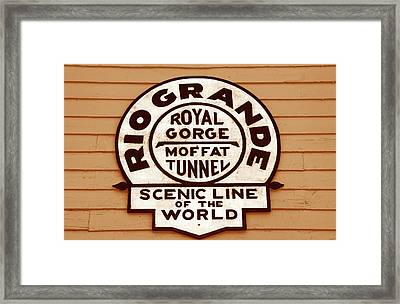 Scenic Line Of The World Framed Print by David Lee Thompson