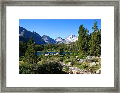 Scenic Mountain View Framed Print by Chris Brannen