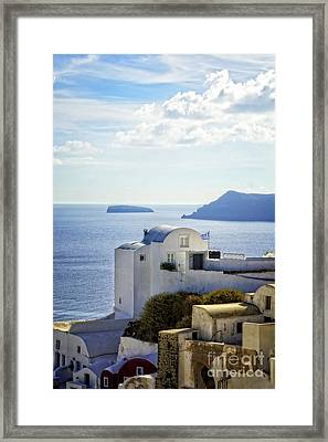 Scenic Oia Framed Print by HD Connelly