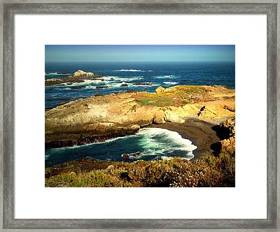 Scenic Point Lobos Two Watercolor Framed Print by Joyce Dickens