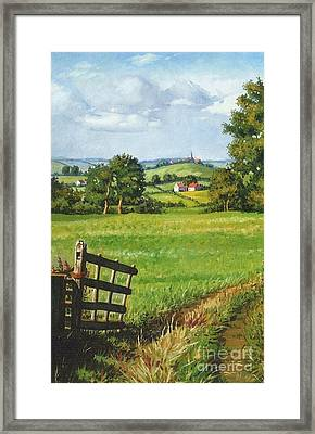 Scenic View Framed Print by Margaryta Yermolayeva