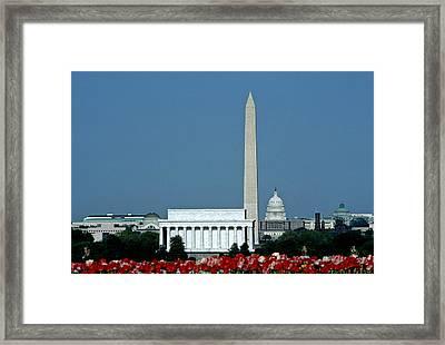 Scenic View Of Washington D.c Framed Print by Kenneth Garrett