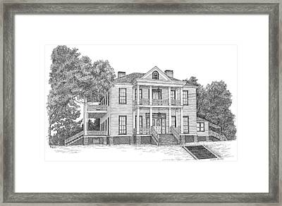 Schluter House In Jefferson Texas Framed Print by Mickie Moore