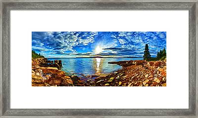 Schoodic Point Cove Framed Print by Bill Caldwell -        ABeautifulSky Photography