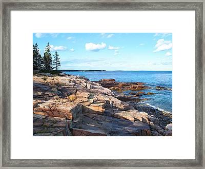 Schoodic Shoreline  Framed Print by Scott  Bricker