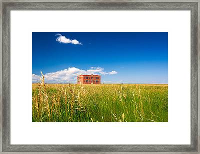 School Abandoned Framed Print by Todd Klassy
